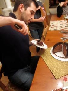 Jake serving up his cake!